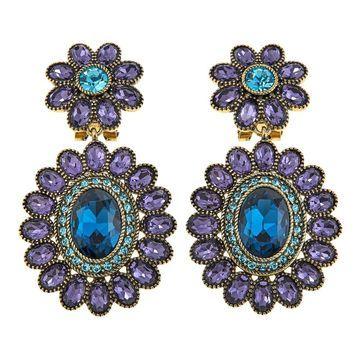Heidi Daus Dazzling Delight Crystal Drop Earrings