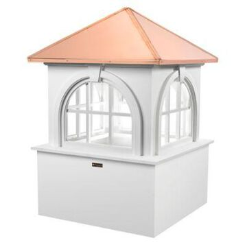 Good Directions Smithsonian Collection Arlington 37-Inch Cupola in White/Copper