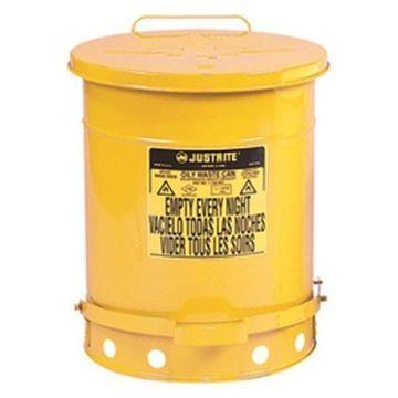 Justrite 21 Gallon Oily Waste Can-Yellow