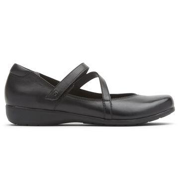 Aravon Womens Abbey Z-Strap Mary Jane Shoes - Size 9.5 2A Black