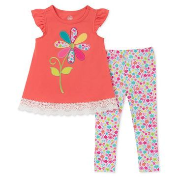 Baby Girls 2-Pc. Floral Tunic & Leggings Set