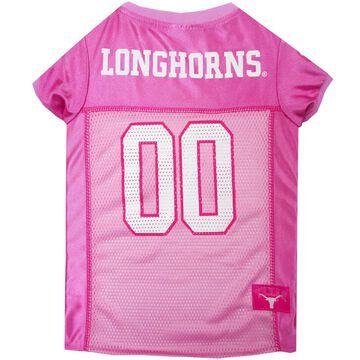 Pets First Texas Longhorns Pink Jersey, Small