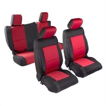 Smittybilt 471830 Seat Covers Red Neoprene For 2007 Jeep JK Wrangler 4-Door