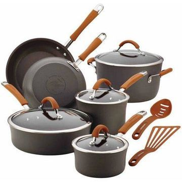 Rachael Ray Cucina Hard-Anodized Aluminum Nonstick 12 Piece Cookware Set