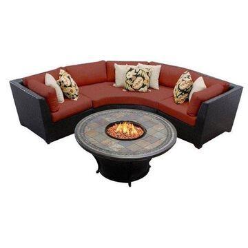 TK Classic Barbados 4-Piece Outdoor Wicker Sofa Set, Terracotta