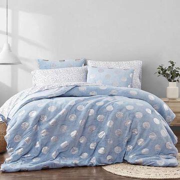 Material Girl Metallic Dot Complete Bedding Set, Blue, Twin