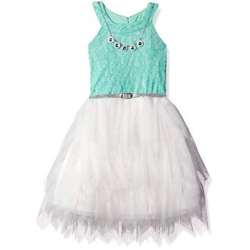 Beautees Girls' Big Halter Dress, Mint, 16, Mint, Size 16