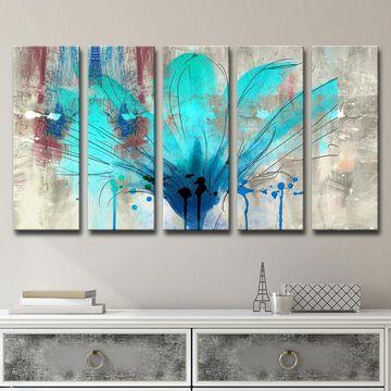 Ready2HangArt 'Painted Petals LII' 5-Piece Canvas Wall Art Set