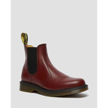Dr. Martens, Women's 2976 Smooth Leather Chelsea Boots in Cherry Red, Size 6