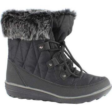 Wanderlust Women's Snowflake Snow Boot Black Waterproof Textile