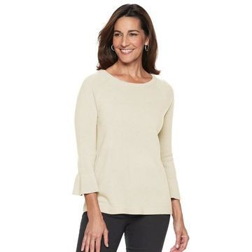 Women's Napa Valley Boatneck Bell-Sleeve Sweater