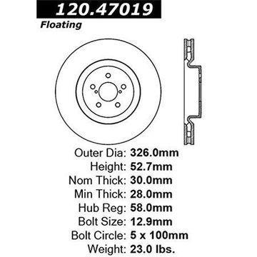 Stoptech 126.47019SL Auto Part