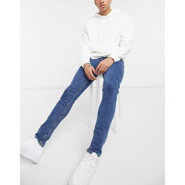 Jack & Jones Liam straight leg jeans in denim blue-Blues