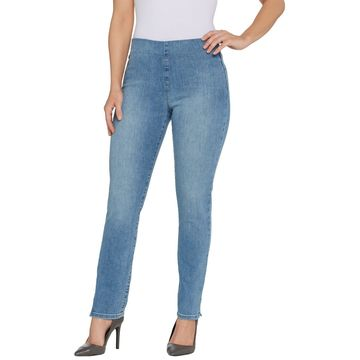 NYDJ Alina Pull-on Ankle Jeans - Clean Dream State