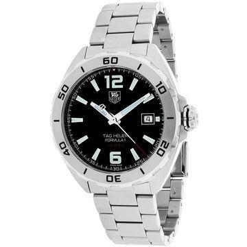 Tag Heuer Men's Formula 1 Round Silvertone Bracelet Watch