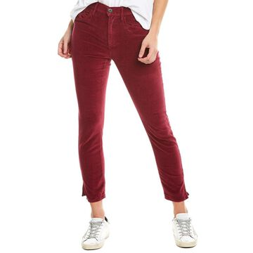 3X1 Womens W3 Merlot Velvet Straight Crop