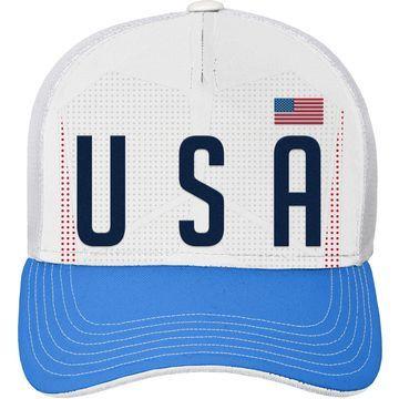 Outerstuff Youth USA Soccer Hook White Meshback Adjustable Hat