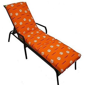 College Covers Fan Shop Clemson Tigers 3pc Chaise Lounge Cushion - 20 x 72 in