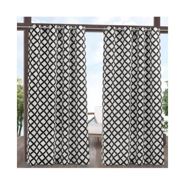 """Exclusive Home Curtains Bamboo Trellis Indoor - Outdoor Light Filtering Grommet Top Curtain Panel Pair, 54"""" x 84"""", Set of 2"""