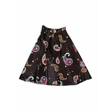 Msgm Paisley Print Knee-Length Skirt Black Msgm Paisley Print Knee-Length Skirt