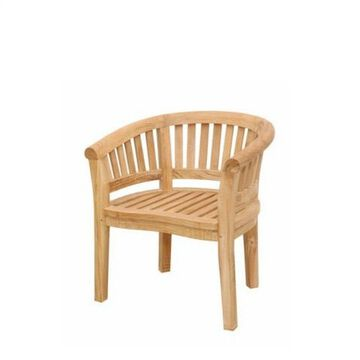 Curve Armchair Extra Thick Wood