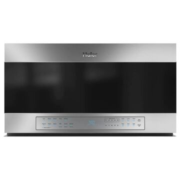 Haier Scan-to-cook 1.6-cu ft Over-the-Range Microwave with Sensor Cooking (Stainless) | QVM7167RNSS