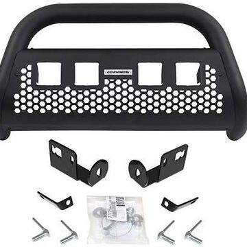 Go Rhino RC2 LR Bull Bar, Without Lights in Black, With cutouts for 4 light cubes