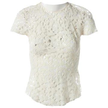Nina Ricci Ecru Wool Tops