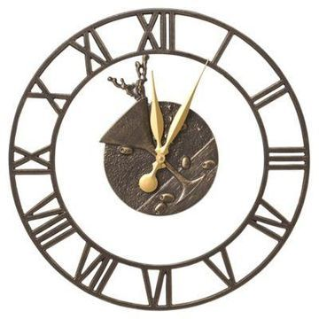 Whitehall Products Martini Floating Ring Indoor/Outdoor Wall Clock in French Bronze