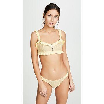 For Love & Lemons Elle Lace Bikini Top