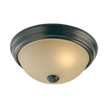 Volume Lighting Trinidad 2-Light Flush Mount Ceiling Fixture