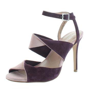 Charles by Charles David Womens Radley Suede Open-Toe Heel Sandals