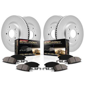 Power Stop Front & Rear Geomet Coated Brake Kit CRK5728