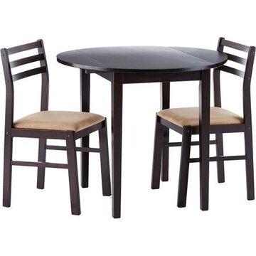 Coaster Company 3-Piece Breakfast Dining Set, Cappuccino