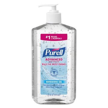 PURELL 12-Count Fragrance-Free Hand Sanitizer Gel