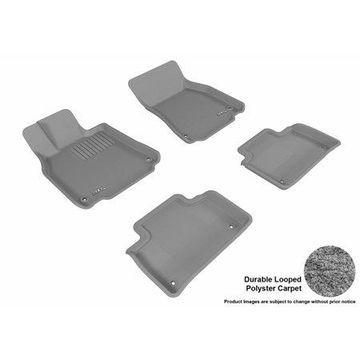 3D MAXpider 2007-2012 Lexus LS460 Front & Second Row Set All Weather Floor Liners in Gray Carpet