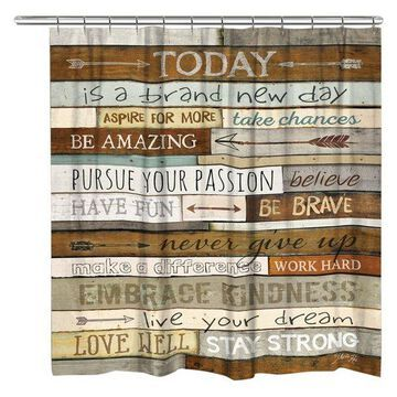 Laural Home Be Brave Shower Curtain