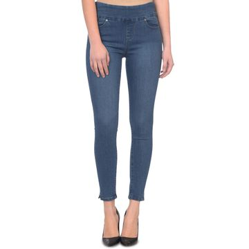 Rachel High-Rise Pull-On Skinny Ankle Jeans
