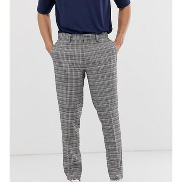 Noak slim fit checked pants in gray