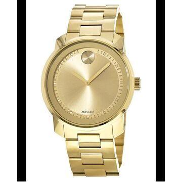 Movado Bold Yellow Gold Tone Men's Watch 3600258 3600258