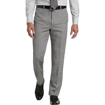 Joseph Abboud Men's Light Gray Linen & Wool Modern Fit Dress Pant - Size: 42W