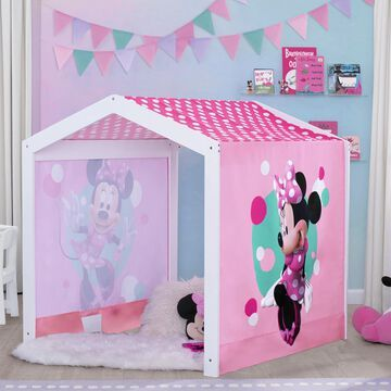 Delta Children& Disney& Minnie Mouse Indoor Playhouse with Tent