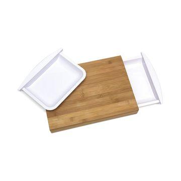 Cutting Board with 2 Half-Trays