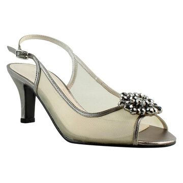Caparros Womens Gray Ankle Strap Heels Size 7