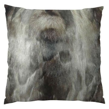 Plutus Brand Ash Handmade Throw Pillow, Single Sided, 16x16