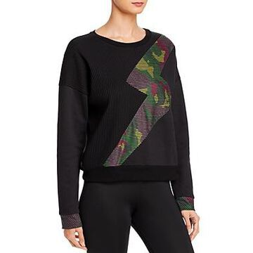 Terez Camo Lightning Fleece Sweatshirt