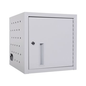 Offex Classroom Library Office 8 Tablet Wall/Desk Charging Station with Secure Keylock Storage Cabinet, Stores up to 8 Mobile Devices