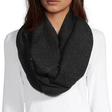 Mixit Crinkle Lurex Infinity Scarf