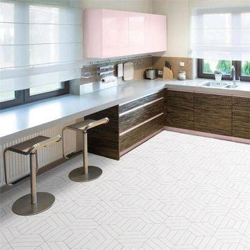 SomerTile 8.63 x 9.88-Inch Oporto Savonas Hex Porcelain Floor and Wall Tile, Rose (25 tiles/11.56 sqft.)