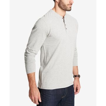 Men's Heathered Henley